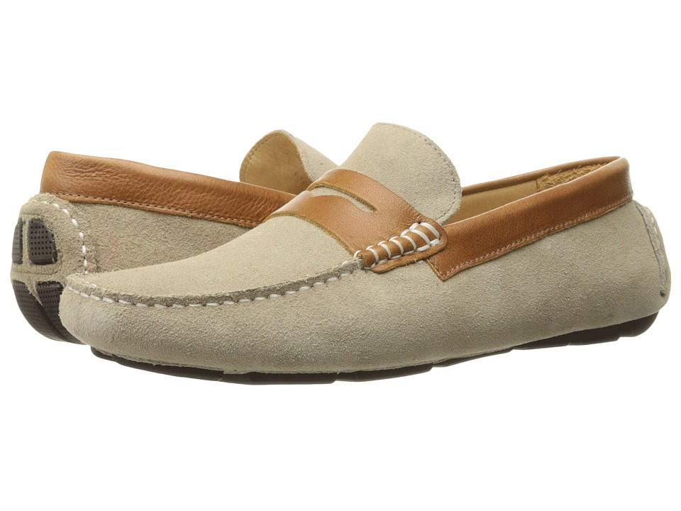 RUSH by Gordon Rush - Davison (Sand Suede/Cognac) Men's Slip on Shoes