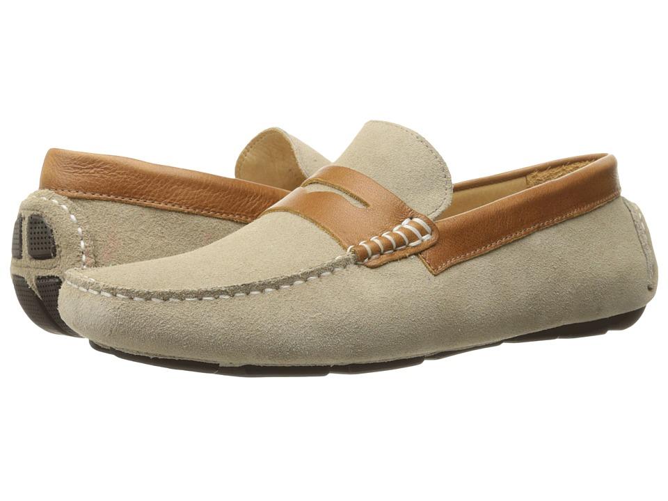 RUSH by Gordon Rush - Davison (Sand Suede/Cognac) Men's Slip on Shoes