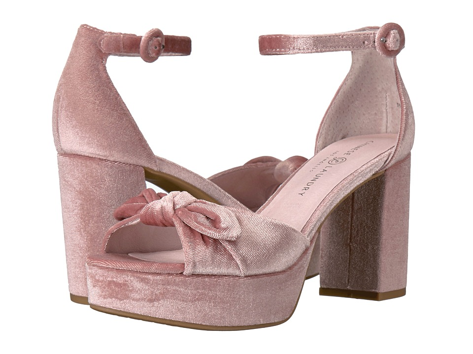 Chinese Laundry - Tina (Rose Rich Velvet) High Heels