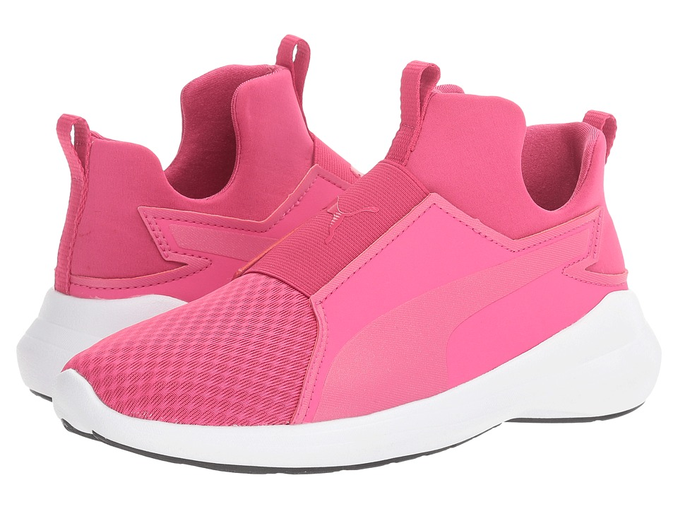 Puma Kids - Rebel Mid (Big Kid) (Beetroot Purple/Beetroot Purple) Girl's Shoes