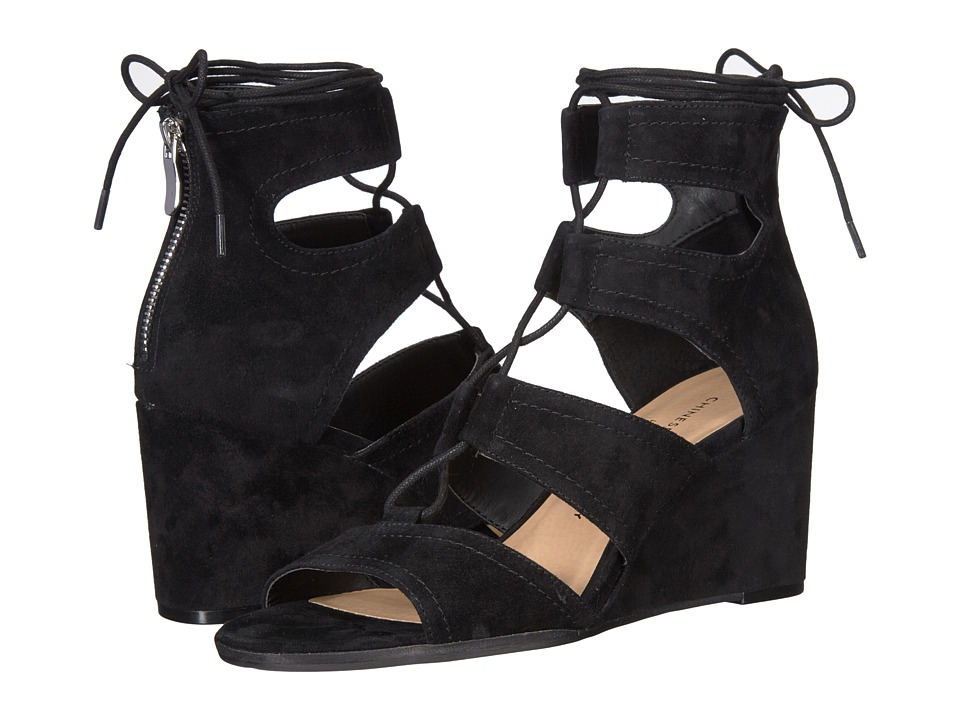 Chinese Laundry - Raja (Black Kid Suede) Women's Wedge Shoes