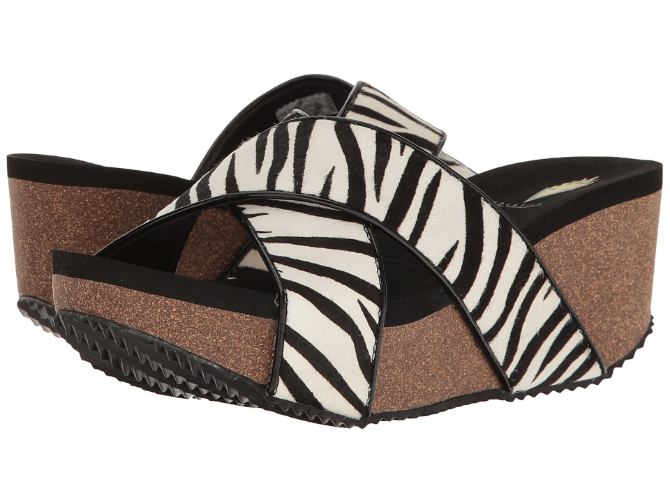 VOLATILE - Blade (Black/White/Zebra) Women's Sandals