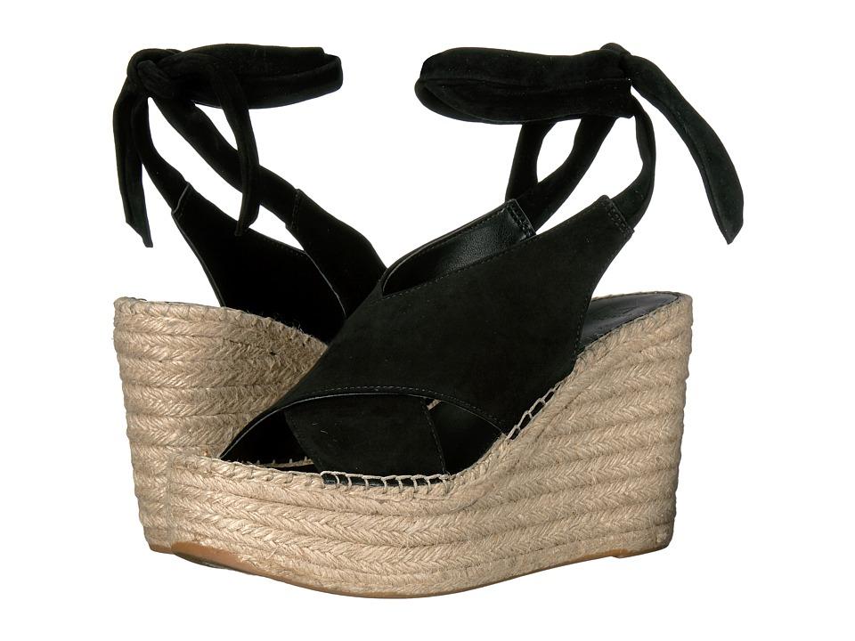 Marc Fisher LTD - Andira (Black Kid Suede) Women's Wedge Shoes