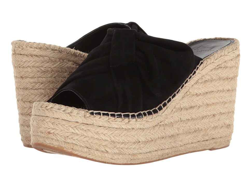 Marc Fisher LTD - Aida (Black Kid Suede) Women's Wedge Shoes