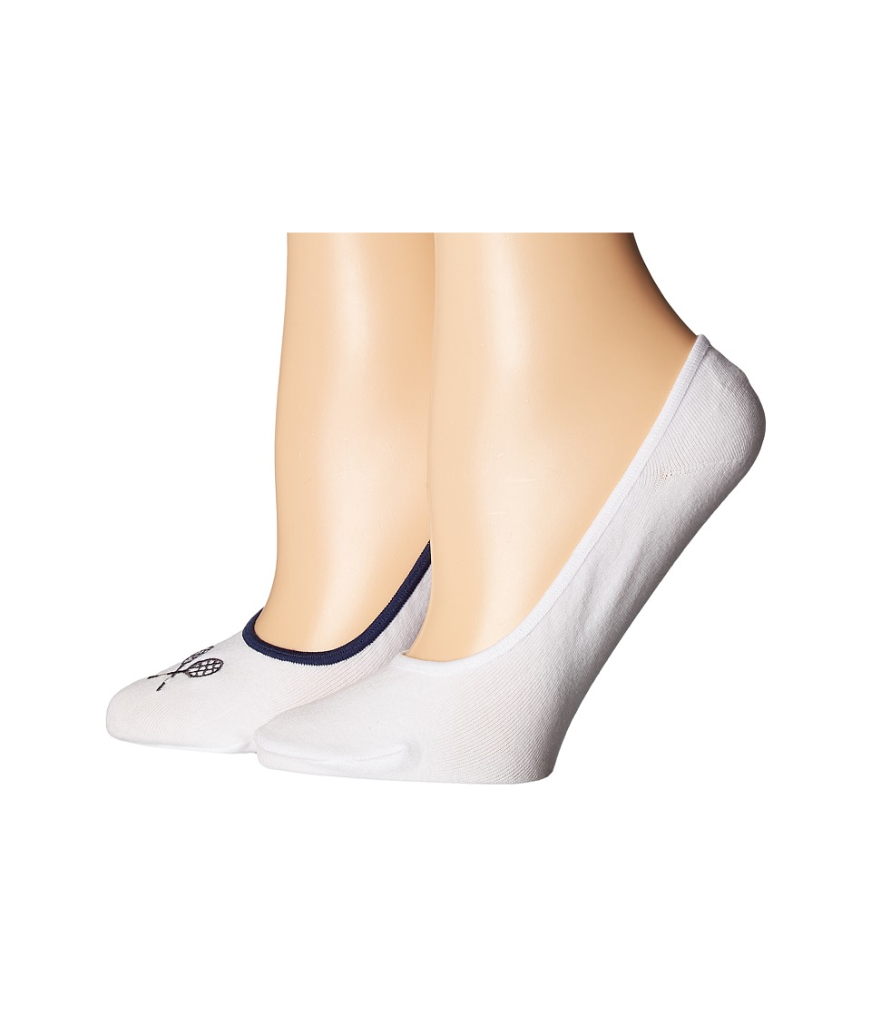 Cole Haan - 2-Pair GrandPro Tennis No Show (White/White) Women's No Show Socks Shoes