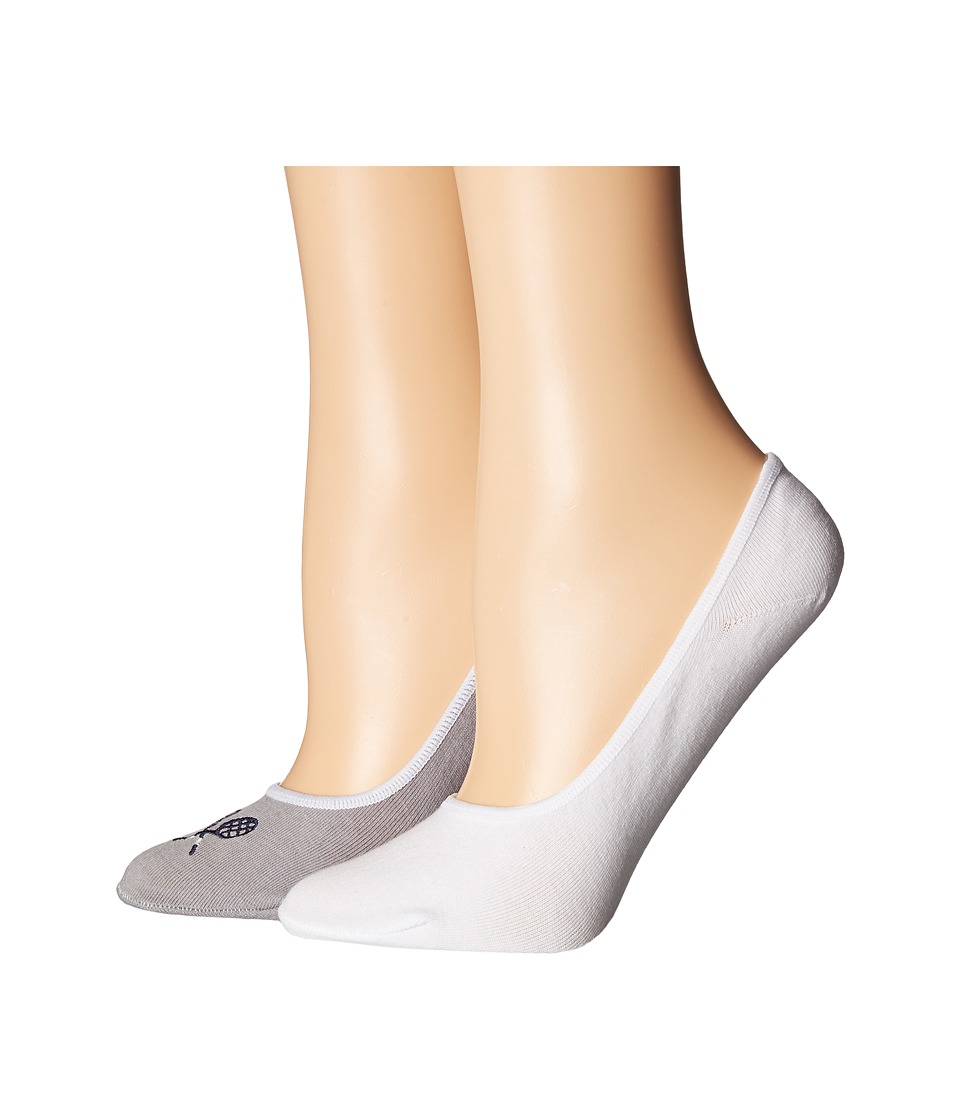 Cole Haan - 2-Pair GrandPro Tennis No Show (Sleet/White) Women's No Show Socks Shoes