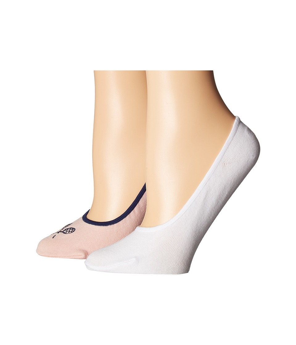 Cole Haan - 2-Pair GrandPro Tennis No Show (Silver Pink/White) Women's No Show Socks Shoes