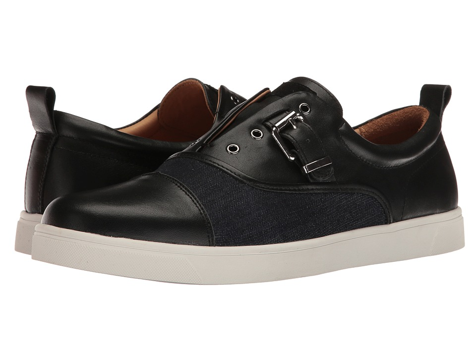 Michael Bastian Gray Label Ossie Buckle Sneaker (Black/Denim) Men
