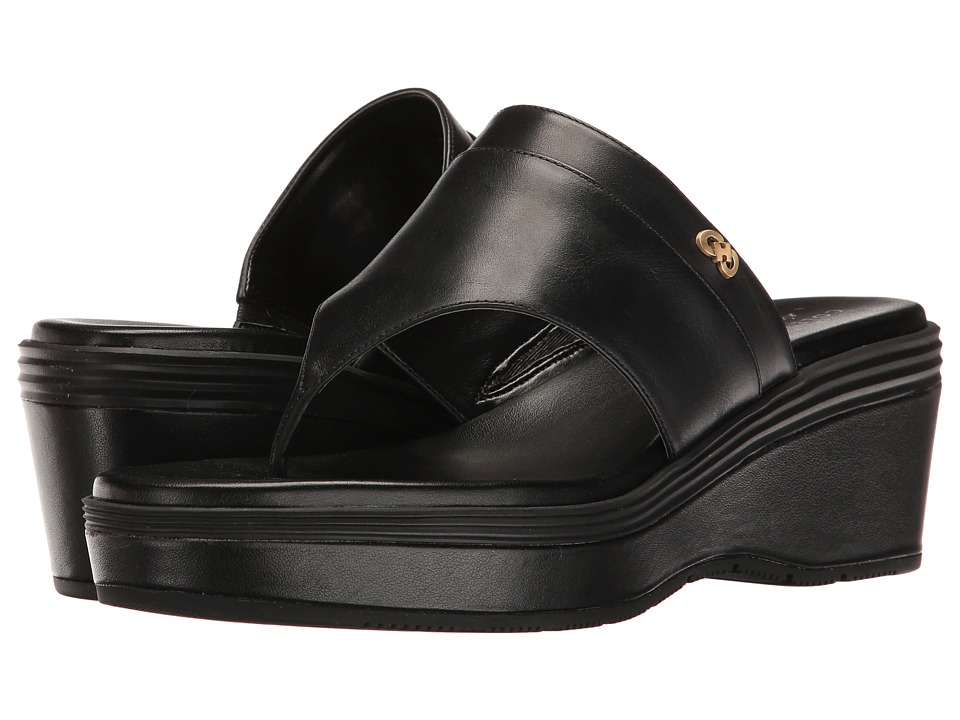 Cole Haan Cecily Grand Thong (Black Leather/Black) Women