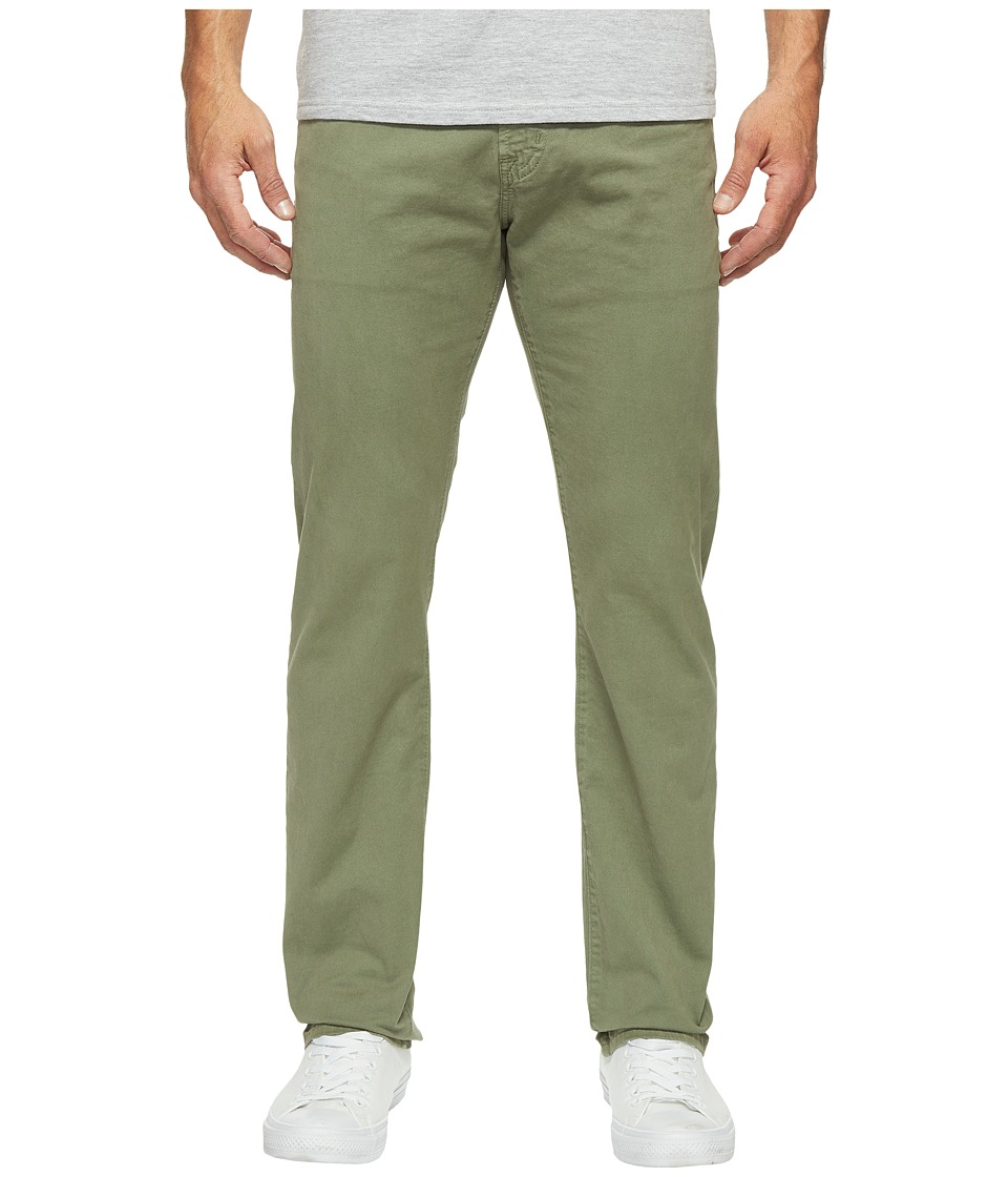 AG Adriano Goldschmied - Matchbox Slim Straight Leg Twill in Sulfur Harvest Olive (Sulfur Harvest Olive) Men's Jeans