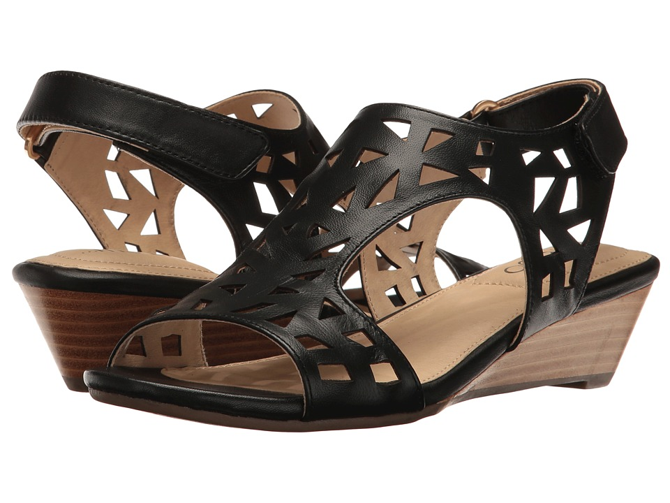 Me Too - Sienna (Black) Women's Wedge Shoes