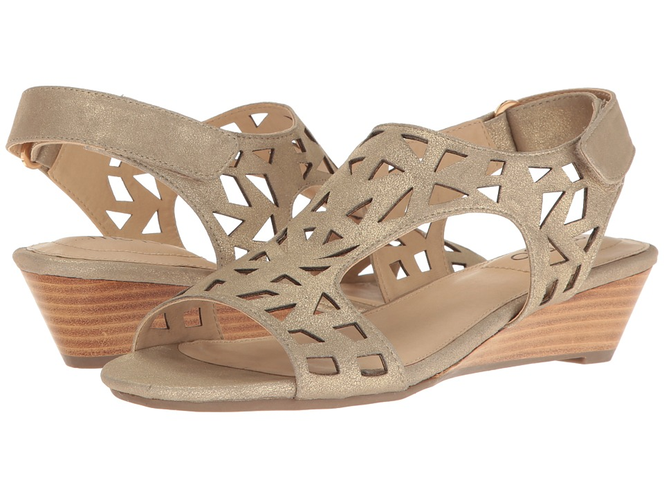 Me Too - Sienna (Pale Gold) Women's Wedge Shoes
