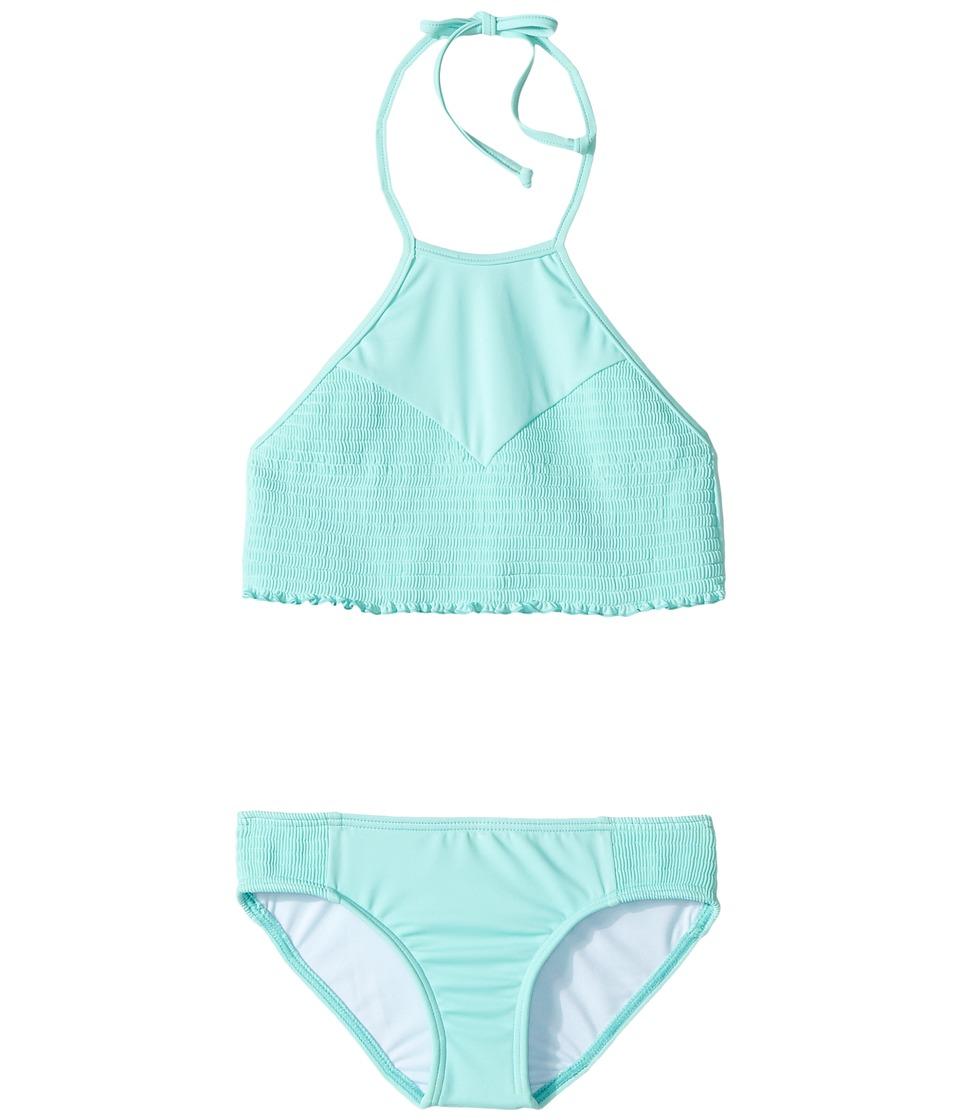 Billabong Kids - Sol Searcher High Neck Set (Little Kids/Big Kids) (Beach Glass) Girl's Swimwear Sets
