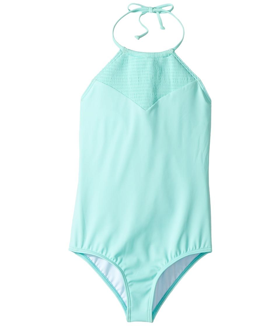 Billabong Kids - Sol Searcher One-Piece (Little Kids/Big Kids) (Beach Glass) Girl's Swimsuits One Piece