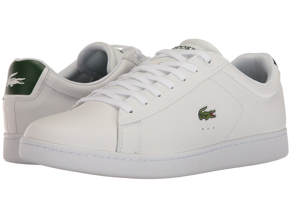 Lacoste - Carnaby Evo S216 2 (White/Dark Green) Men's Shoes