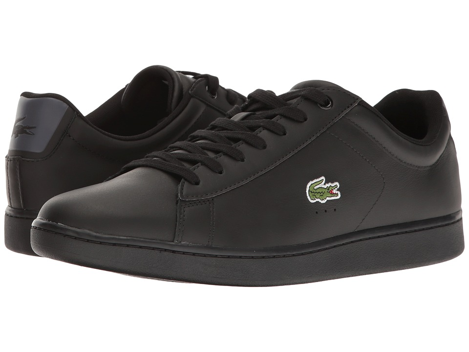 Lacoste - Carnaby Evo S216 2 (Black/Dark Grey) Men's Shoes