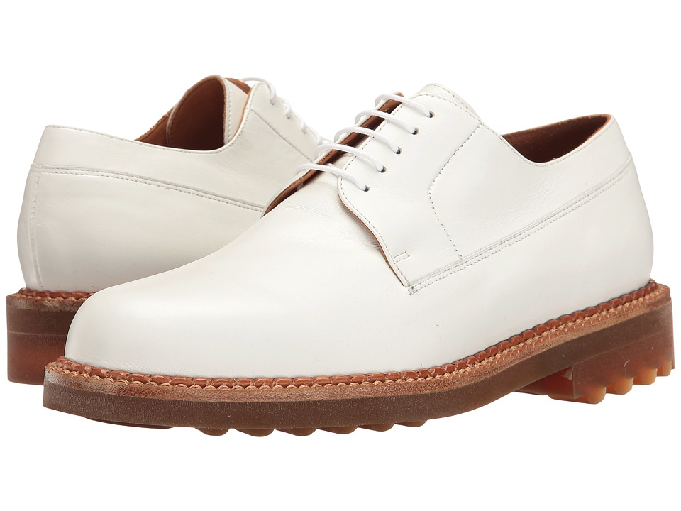 Robert Clergerie - Doc Oxford (White) Men's Lace Up Wing Tip Shoes