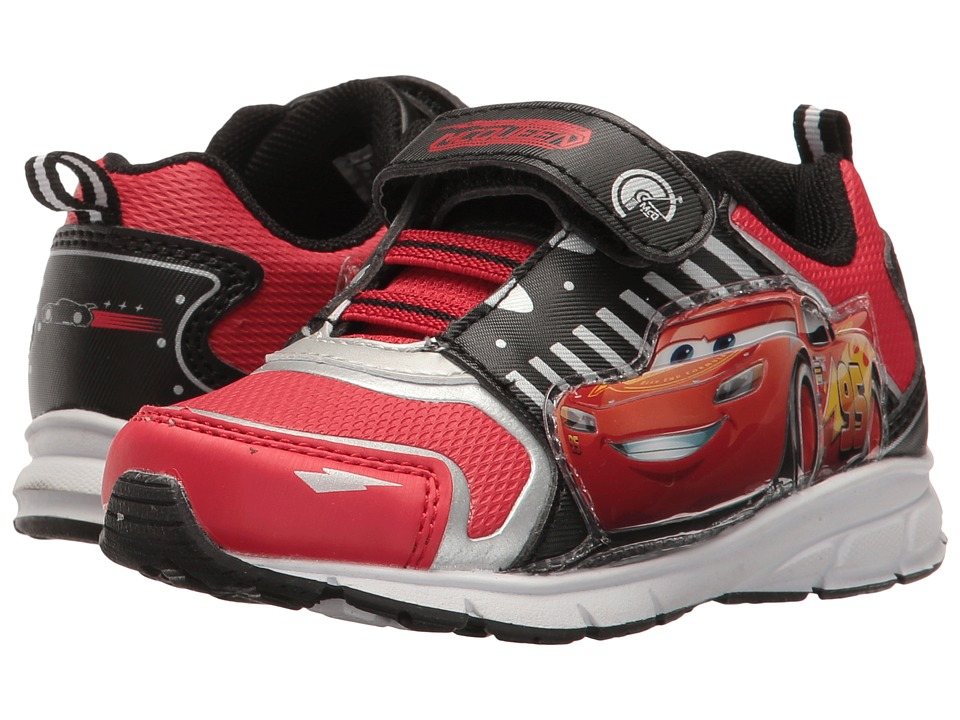 Josmo Kids - Cars Lighted Sneaker (Toddler/Little Kid) (Black/Red) Boy's Shoes