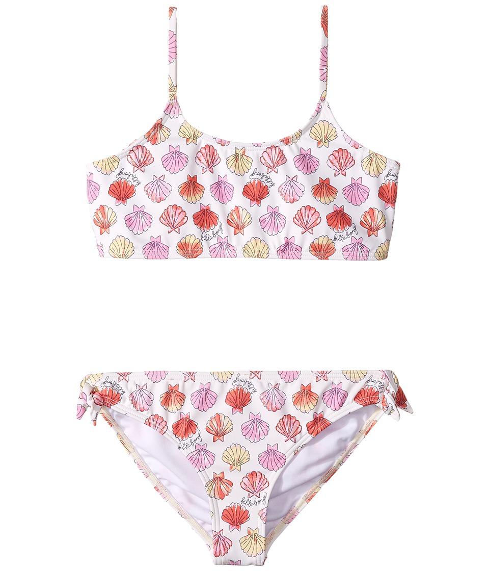 Billabong Kids - Seeing Shells Crop Tank Set (Little Kids/Big Kids) (Seashell) Girl's Swimwear Sets