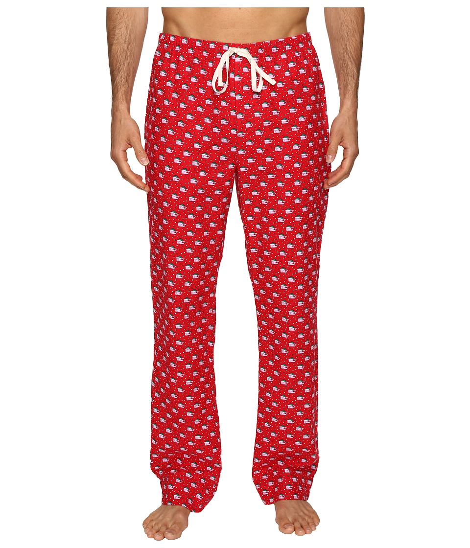 Vineyard Vines - Santa Whale Lounge Pants (Tomato Check) Men's Pajama