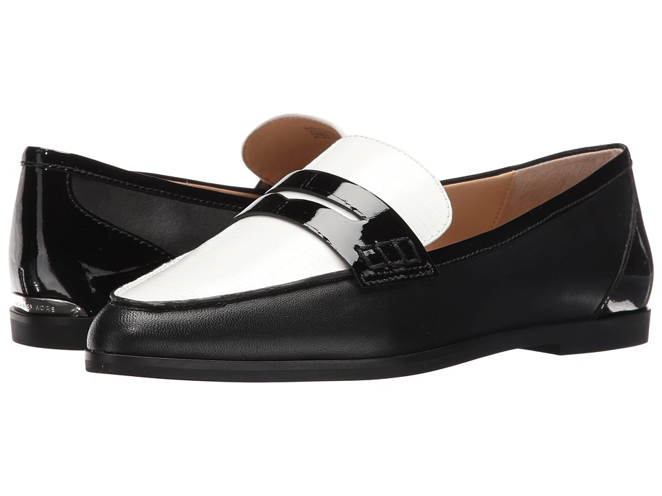 MICHAEL Michael Kors - Connor Loafer (Black/Optic White) Women's Shoes