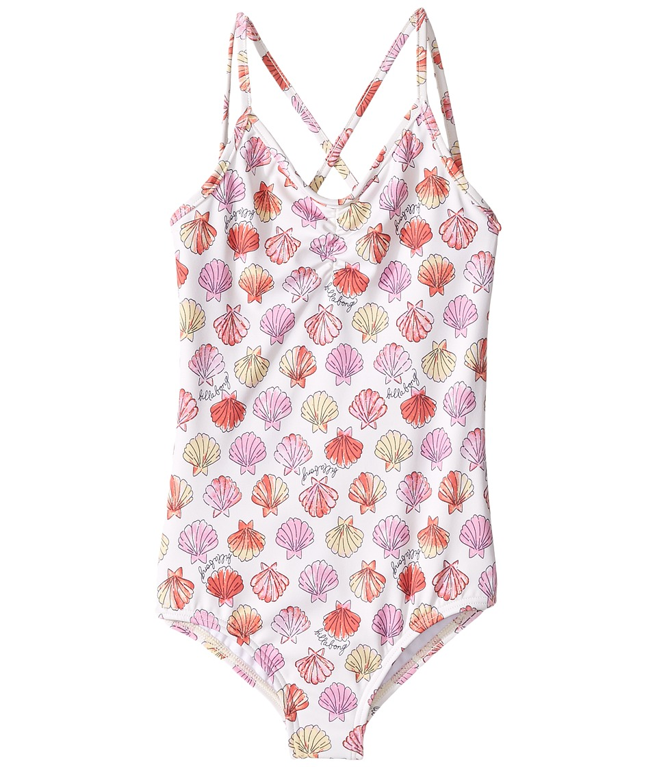 Billabong Kids - Seeing Shells One-Piece (Little Kids/Big Kids) (Seashell) Girl's Swimsuits One Piece