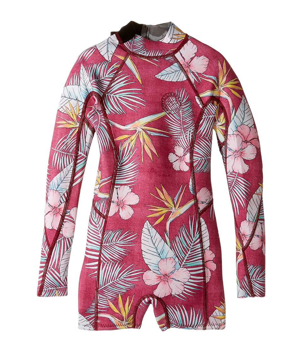 Billabong Kids - Spring Fever One-Piece (Big Kids) (Sangria) Girl's Swimsuits One Piece