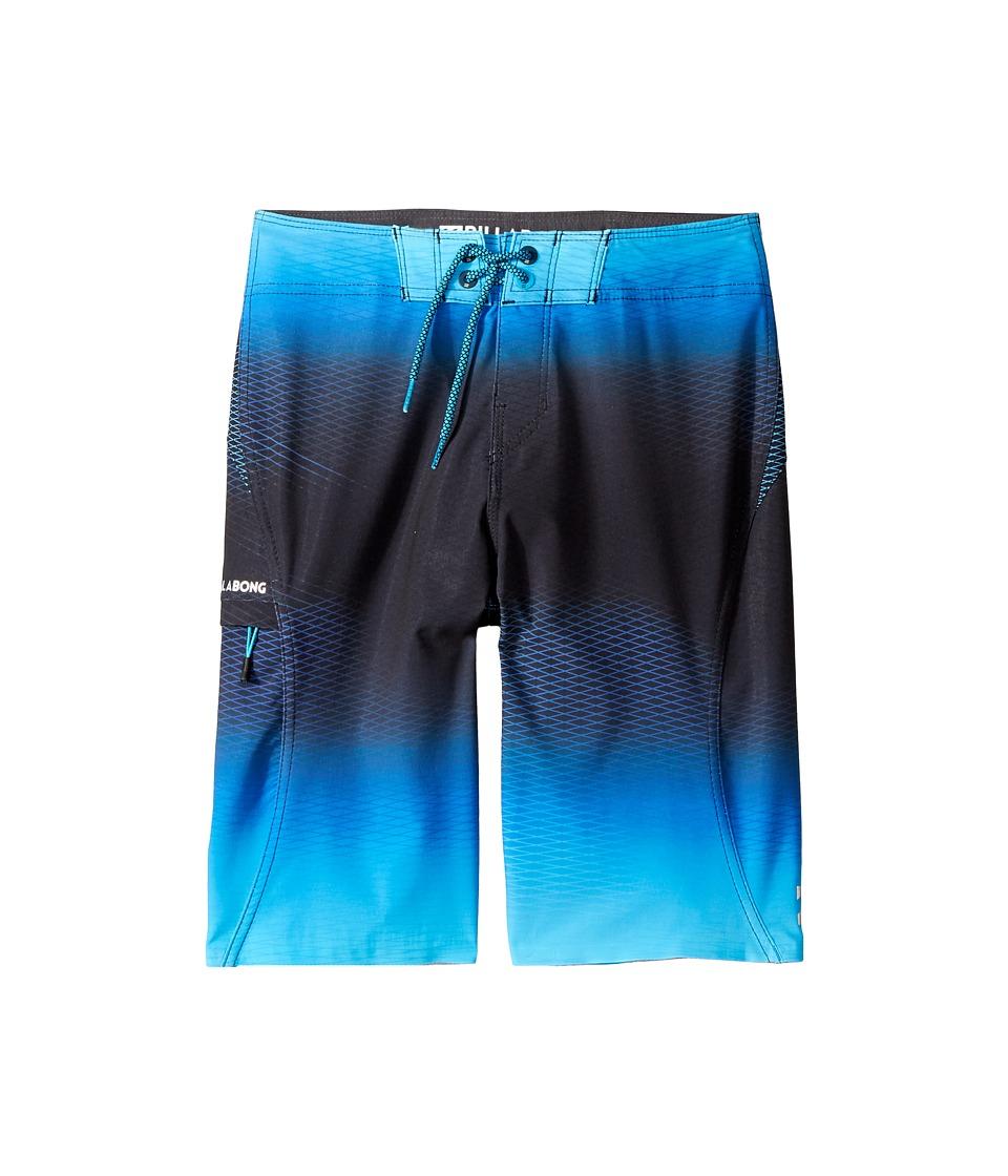 Billabong Kids - Fluid X Boardshorts (Big Kids) (Blue) Boy's Swimwear