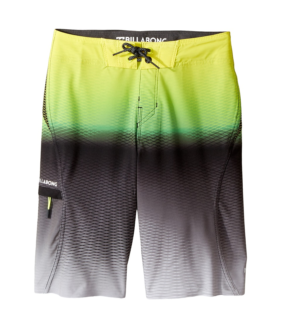 Billabong Kids - Fluid X Boardshorts (Big Kids) (Neo Lime) Boy's Swimwear