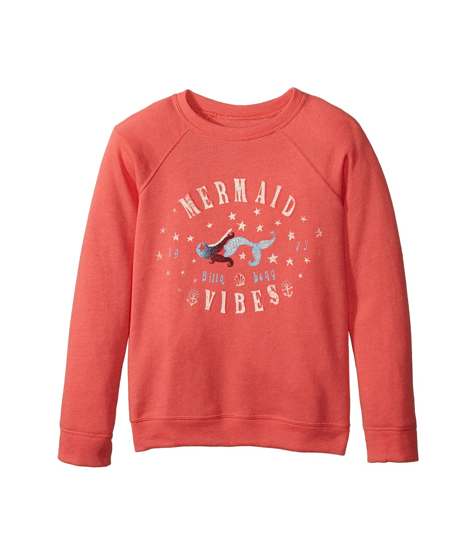 Billabong Kids - This Time Pullover (Little Kids/Big Kids) (Vintage Coral) Girl's Long Sleeve Pullover