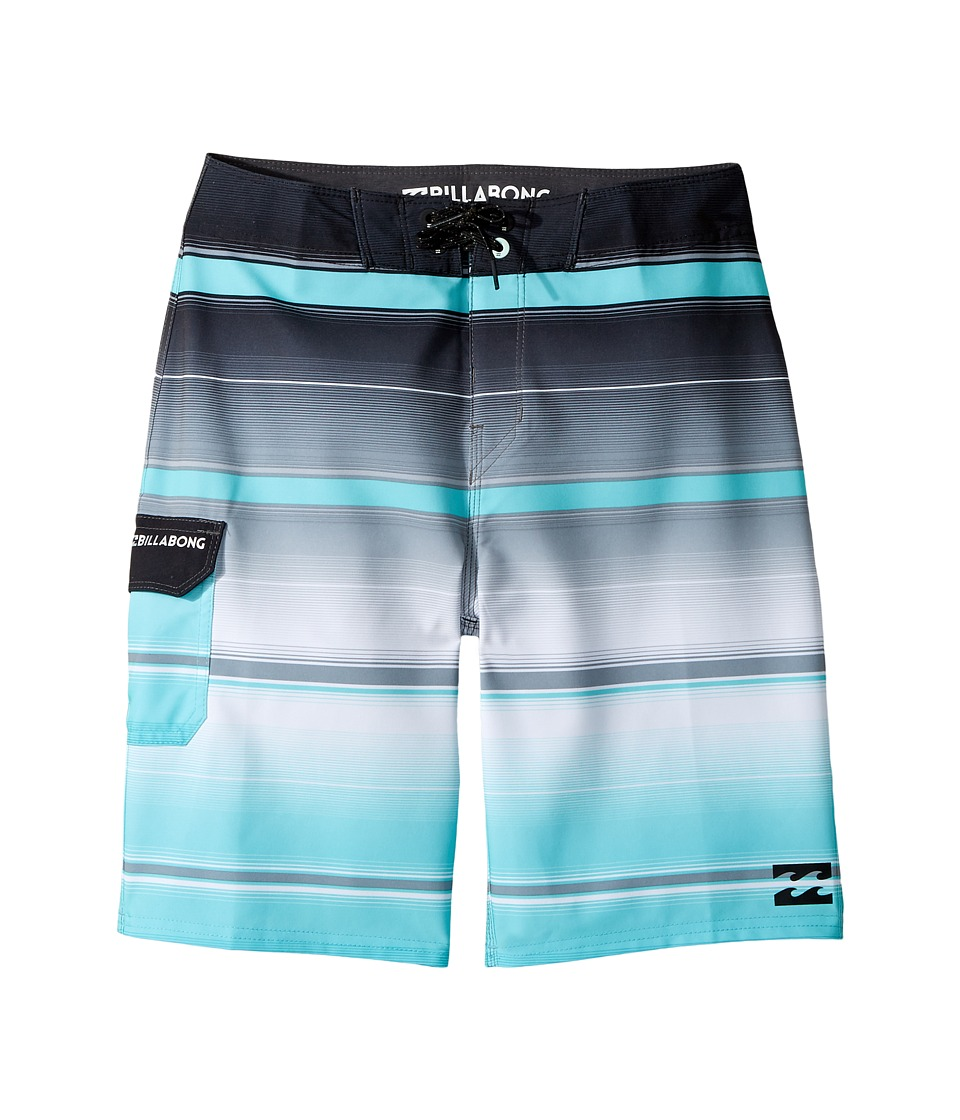 Billabong Kids All Day X Stripe Boardshorts (Big Kids) (Black) Boy