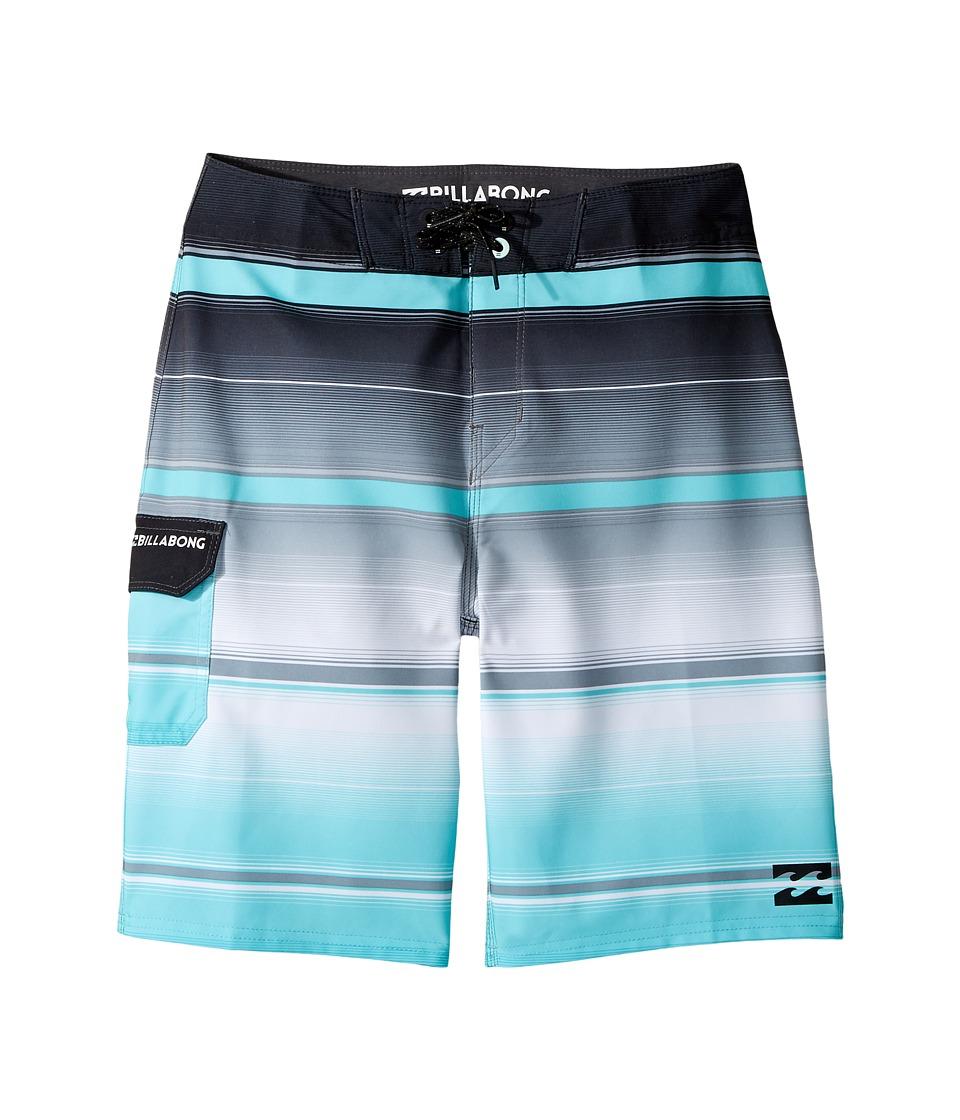 Billabong Kids - All Day X Stripe Boardshorts (Big Kids) (Black) Boy's Swimwear