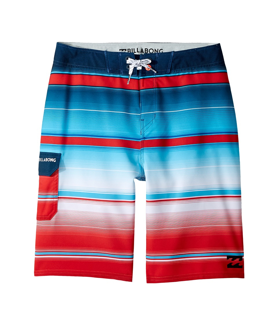 Billabong Kids All Day X Stripe Boardshorts (Big Kids) (Red) Boy