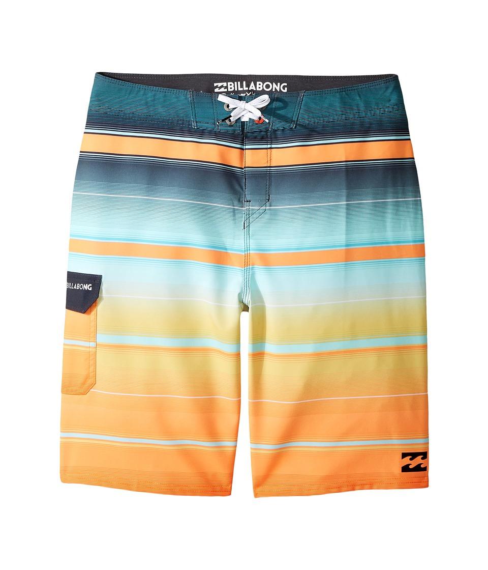 Billabong Kids - All Day X Stripe Boardshorts (Big Kids) (Tangerine) Boy's Swimwear