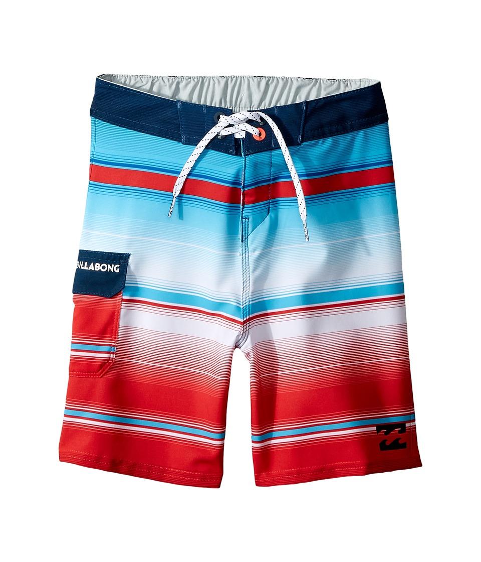 Billabong Kids - All Day X Stripe Boardshorts (Toddler/Little Kids) (Red) Boy's Swimwear