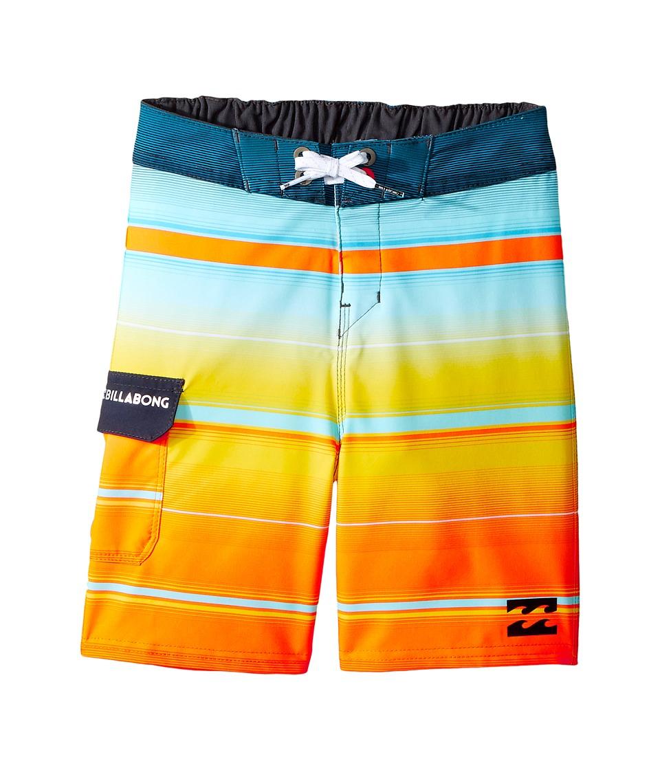 Billabong Kids - All Day X Stripe Boardshorts (Toddler/Little Kids) (Tangerine) Boy's Swimwear