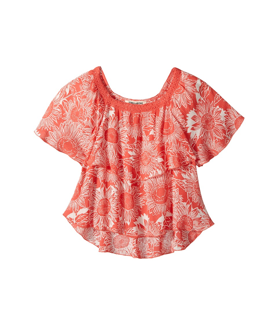 Billabong Kids - Butterfly Kiss Top (Little Kids/Big Kids) (Vintage Coral) Girl's Clothing