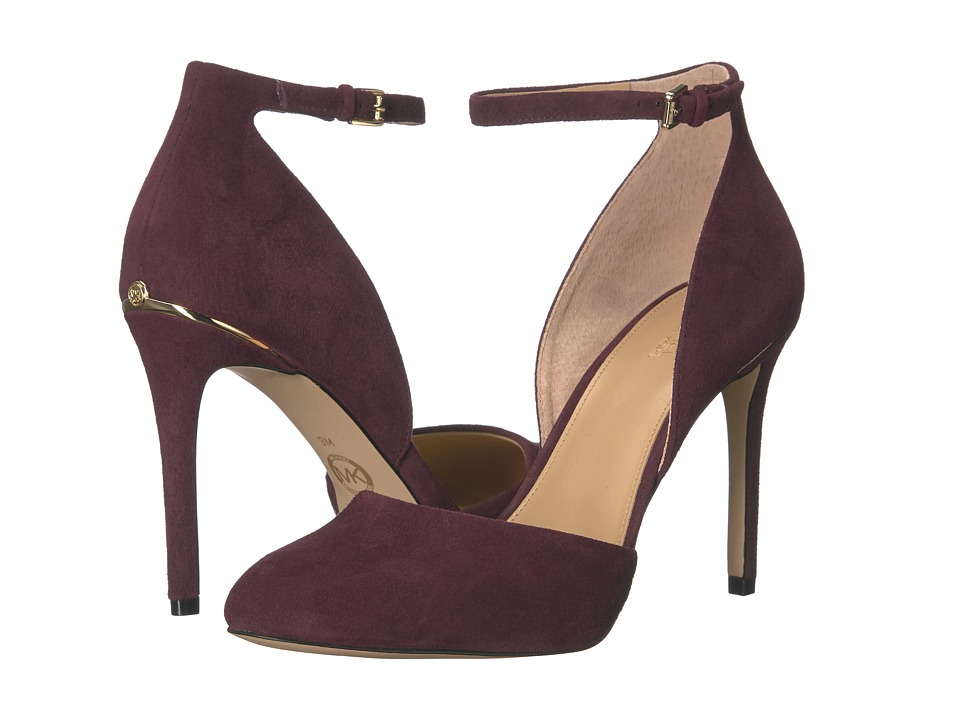 MICHAEL Michael Kors - Georgia Ankle Strap (Plum) Women's Shoes