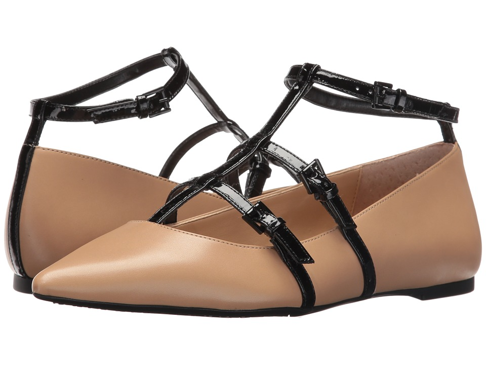 MICHAEL Michael Kors - Marta Flat (Nude/Black) Women's Flat Shoes