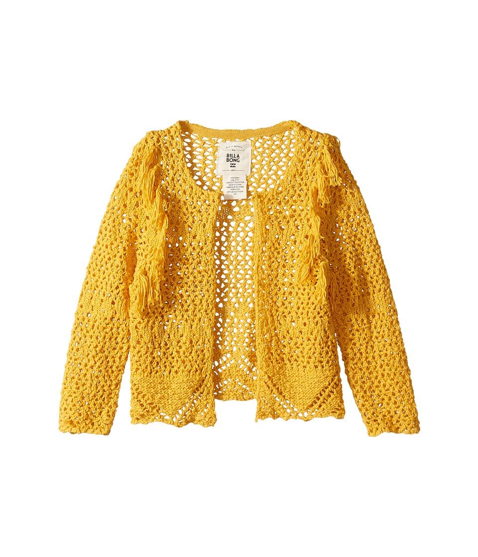 Billabong Kids - Dancing Dandy Cardigan (Little Kids/Big Kids) (Goldrush) Girl's Sweater