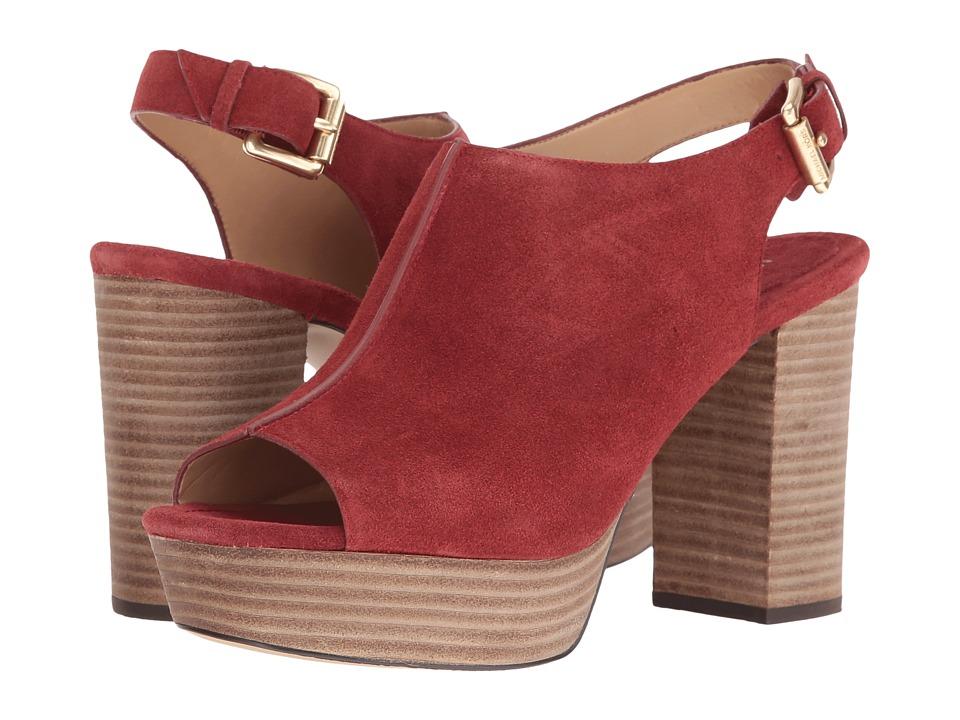 MICHAEL Michael Kors - Piper Sling (Brick) Women's Shoes