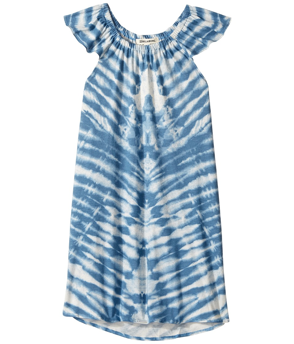 Billabong Kids No Bad Vibes Dress (Little Kids/Big Kids) (Vintage Indigo) Girl