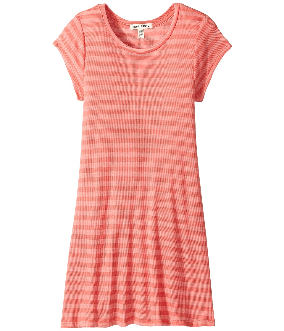 Billabong Kids - Stand Off Dress (Little Kids/Big Kids) (Vintage Coral) Girl's Dress