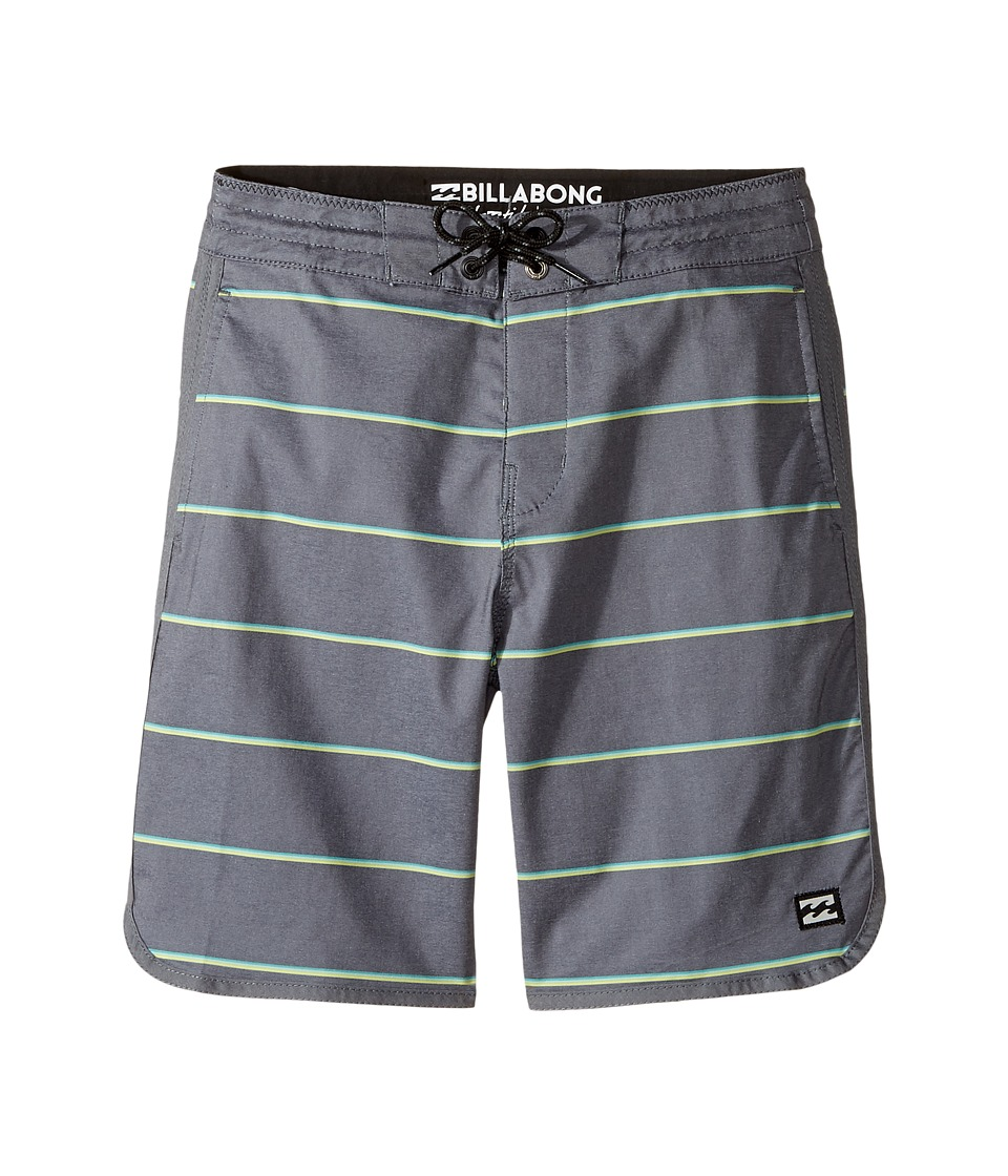 Billabong Kids 73 LT Stripe Boardshorts (Big Kids) (Black) Boy