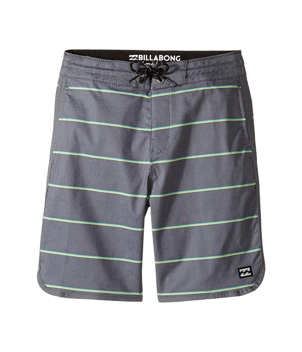 Billabong Kids 73 LT Stripe Boardshorts (Big Kids) (Black) Boy