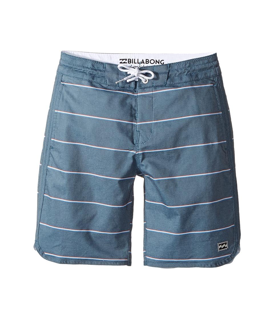 Billabong Kids - 73 LT Stripe Boardshorts (Big Kids) (Navy) Boy's Swimwear