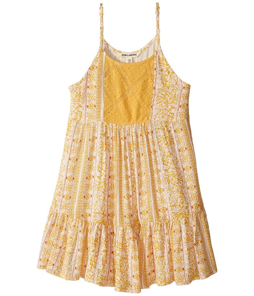 Billabong Kids Sundaze Dress (Little Kids/Big Kids) (Goldrush) Girl