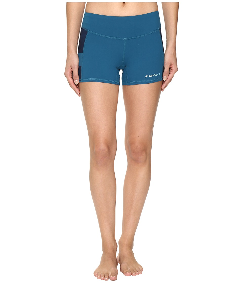 Brooks - Greenlight 3 Short Tights (River/River Scape) Women's Shorts