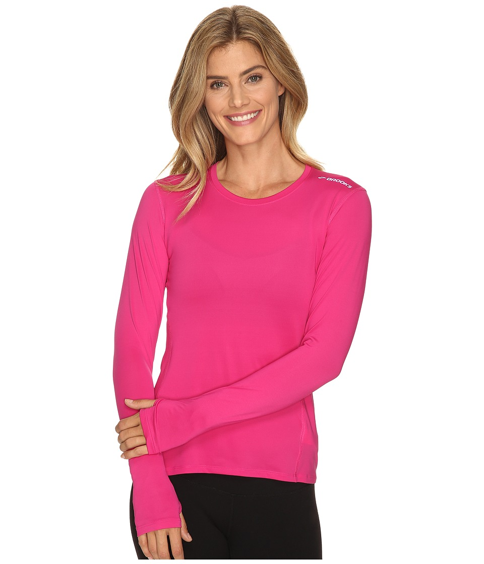 Brooks - Steady Long Sleeve (Bloom) Women's Clothing