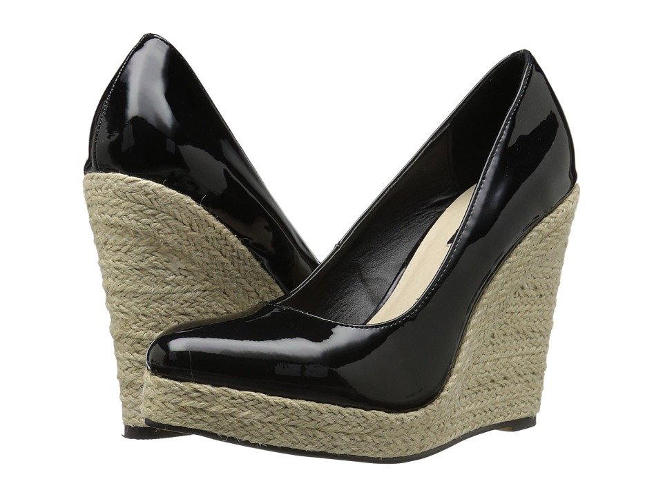 Michael Antonio - Anabel - Patent (Black Patent) Women's Wedge Shoes